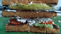 Three layer of bread Non Veg club sandwich Food Recipe Dinner ideas