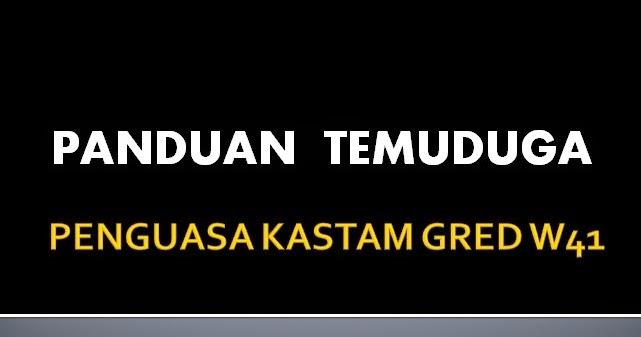 Soalan Dan Jawapan Temuduga Kastam - Selangor p