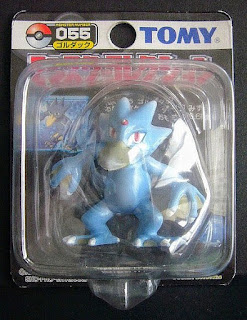 Golduck Pokemon figure Tomy Monster Collection black package series