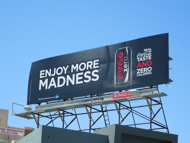 Coke Zero Enjoy madness billboard