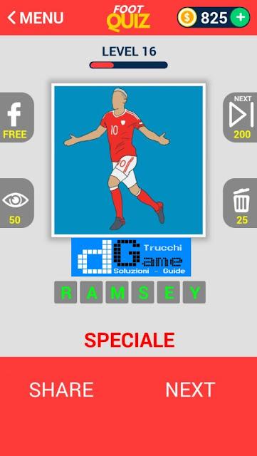 FootQuiz Calcio Quiz Football ( EURO 2016) soluzione livello 11-20