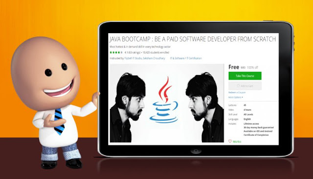 [100% Off] JAVA BOOTCAMP : BE A PAID SOFTWARE DEVELOPER FROM SCRATCH| Worth 80$