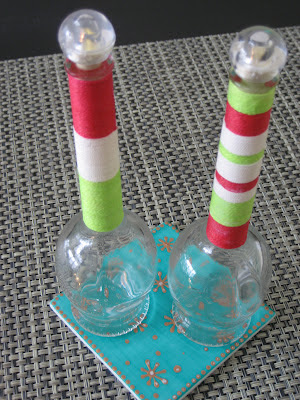 Botellas decoradas con hilo
