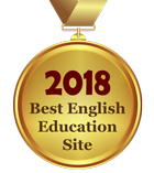 Award - Best English Education Site 2018