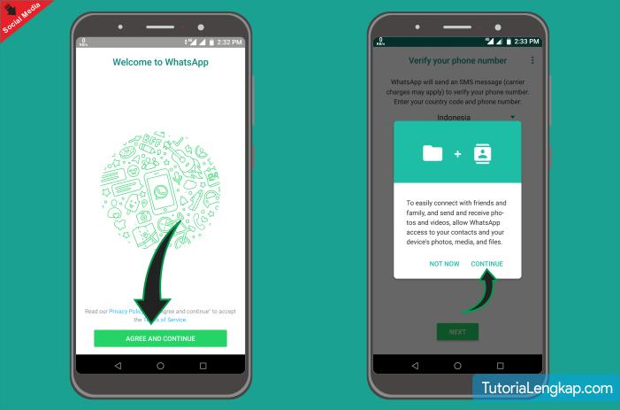 Tutoriallengkap Install aplikasi Whatsapp pada handphone android