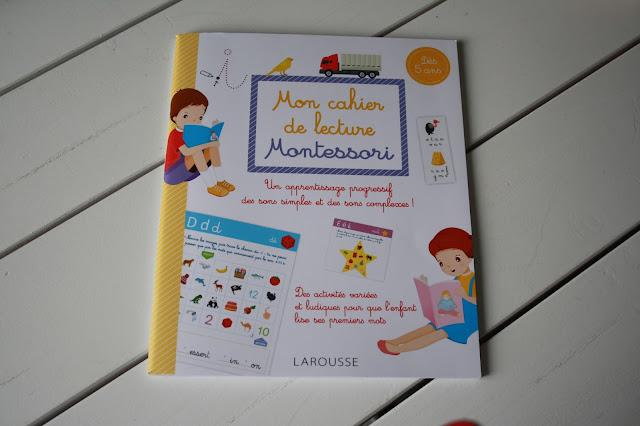 Mon cahier de lecture Montessori de chez Larousse