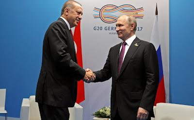 Vladimir Putin, Recep Tayyip Erdogan.