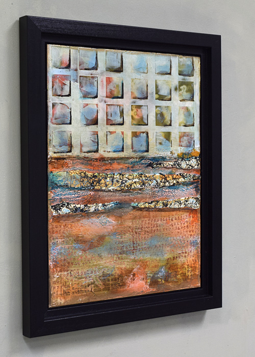 framed abstract painting by SDW