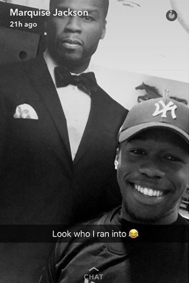 lol marquise jackson runs into his dad 50 cent
