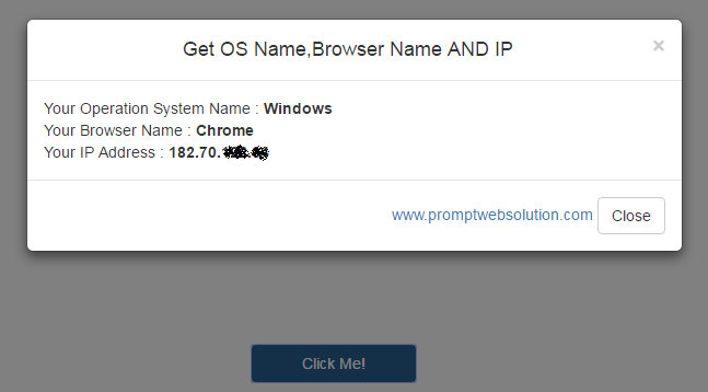 Get IP, OS name and Browser Name using JQuery - JavaScript | Prompt