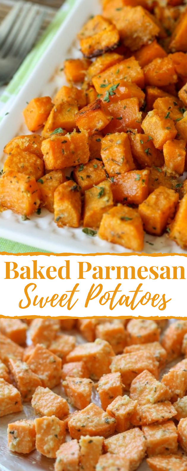 ROASTED SWEET POTATO CUBES #healthy #potatorecipe