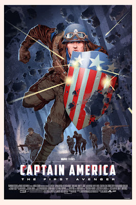 San Diego Comic-Con 2016 Exclusive Captain America The First Avenger Variant Marvel Screen Print by Stan & Vince x Mondo