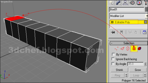 3ds max polygon selector