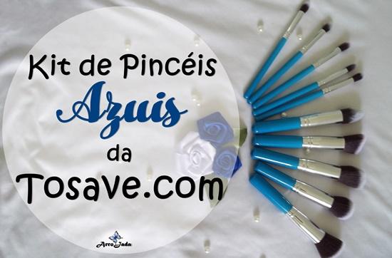 Kit de Pincéis Azuis da Tosave.com