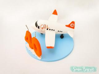 Topo de Bolo, Avião, Biscuit