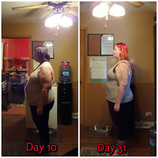 30 day progress with minimal exercise.