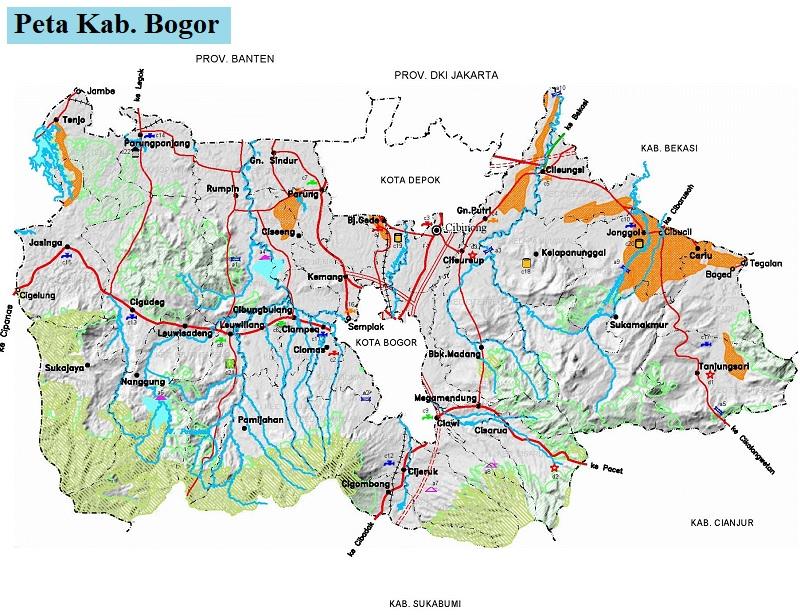 Peta Kabupaten Bogor HD
