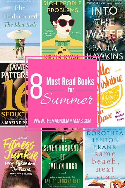 8 Must Read Books for Summer 2017. Great book suggestions for vacation reading.