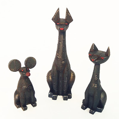 "Argonaut Resins x Small Angry Monster ""Machine"" Tuttz Mini, Pharaoh Hound Mini & Sucio Custom Resin Figures"