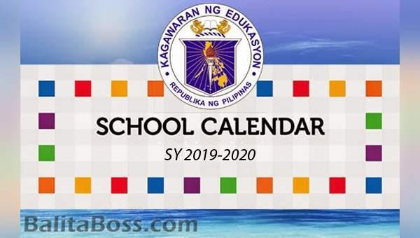 DedEd School Calendar for School Year 2019-2020
