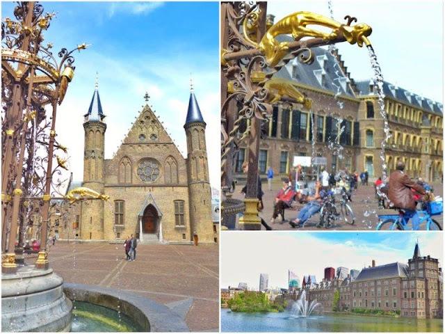 Ridderzaal Sala de los Caballeros, Parlamento holandes en La Haya – Estanque Hof Vijver