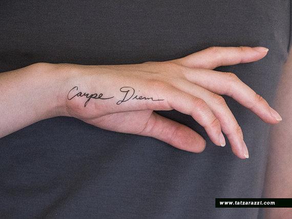 Tatuajes De Carpe Diem Para Chicas Y Su Significado Belagoria La
