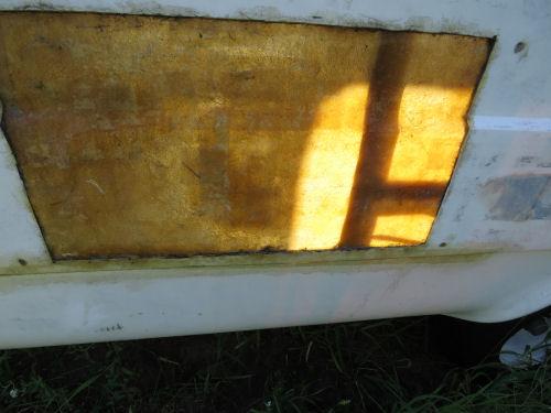 fiberglass repair wall of fiberglass trailer