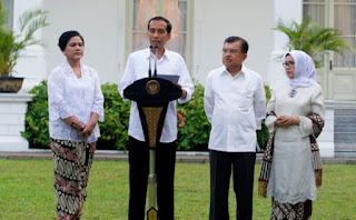 Jokowi - JK dan istri