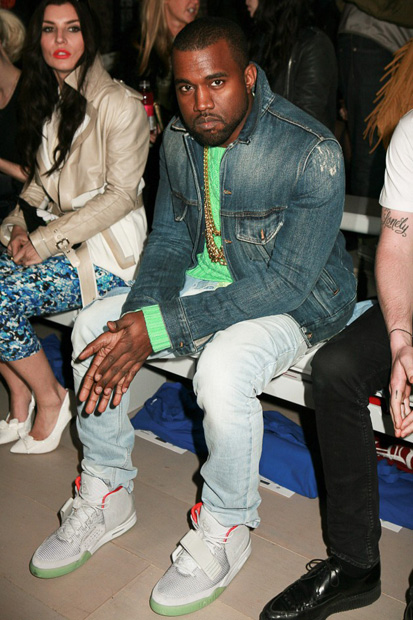 Kayne s obsession with wearing women s clothing + Sneak Peek of Nike Air  Yeezy 2 s d647f07158