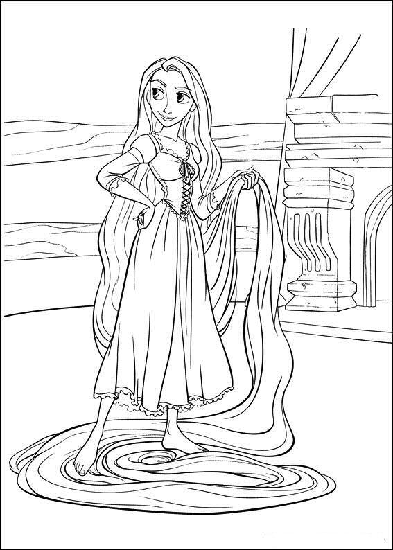 Cosas Para Ninos Princesa Rapunzel Para Colorear Y Pintar Gratis