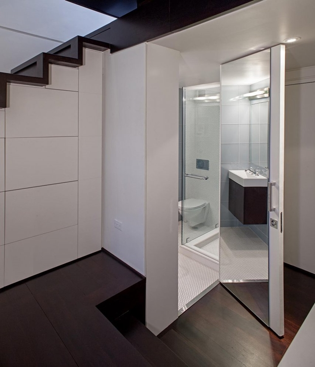 Bathroom doors with mirror