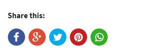 social share button berbentuk bulat