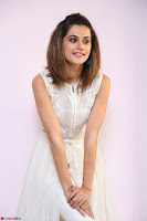 Taapsee Pannu in cream Sleeveless Kurti and Leggings at interview about Anando hma ~  Exclusive Celebrities Galleries 058.JPG
