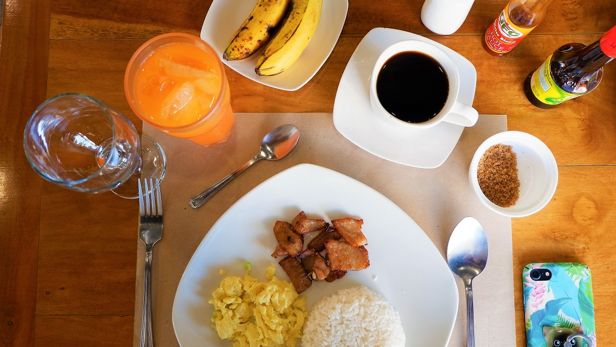 Filipino food breakfast at CT Boulevard Hotel