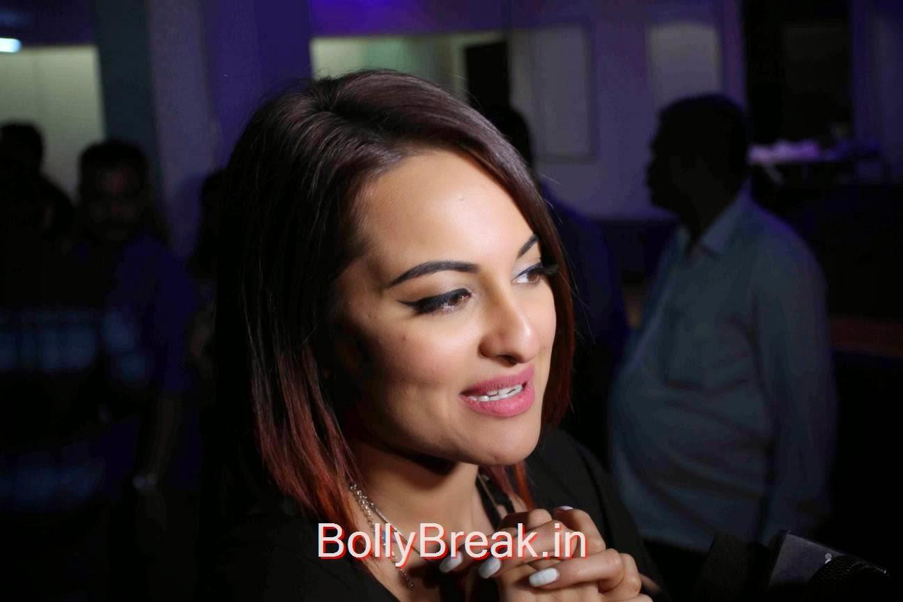 Hindi Actress Sonakshi Sinha, Sonakshi Sinha Hot Pics At Tevar Movie Special Screening