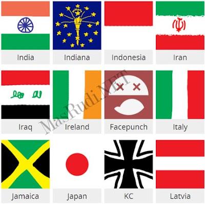 Nama dan Skin Agar IO Bendera Indonesia