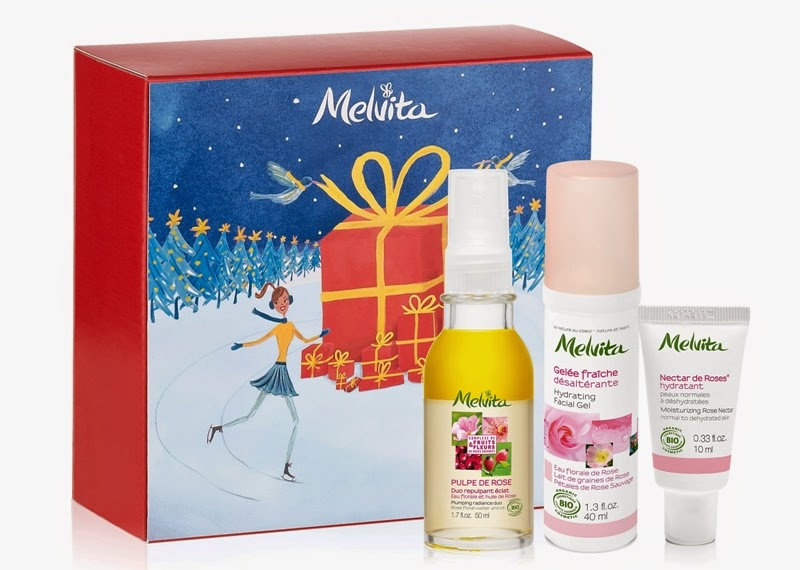 Rose Moisture & Radiance Treats, Pulpe de Rose Plumping Radiance Duo, Rose Nectar Hydrating Facial Gel, Rose Moisturizing Rose Nectar, Melvita Christmas Gift Sets, Melvita, Melvita Malaysia, Christmas Set, Christmas Gift