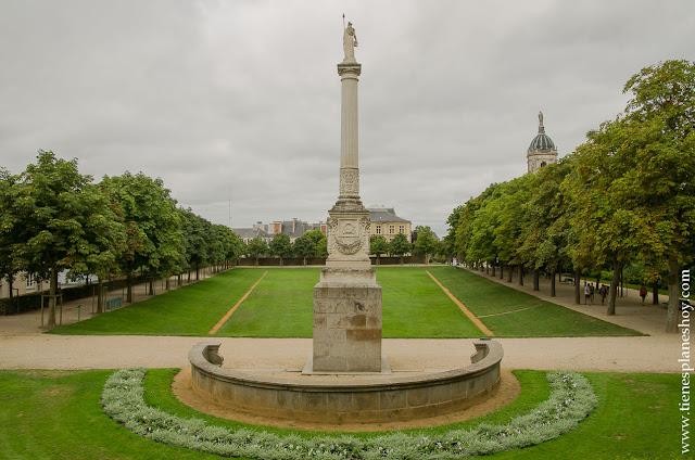 Parque Thabor que ver en Rennes jardines Bretaña Francia diario
