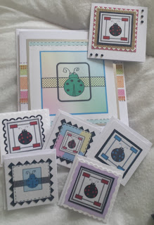 Set of 10 handmade cards featuring my Ladybird designs