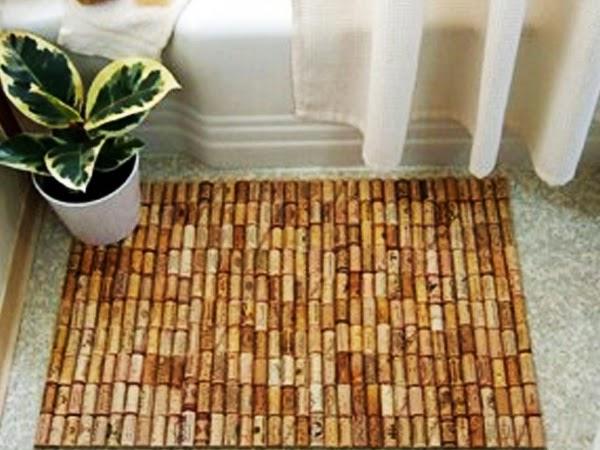 Fatto in casa tappeto con tappi di sughero fai da te for Arredamento fai da te riciclo