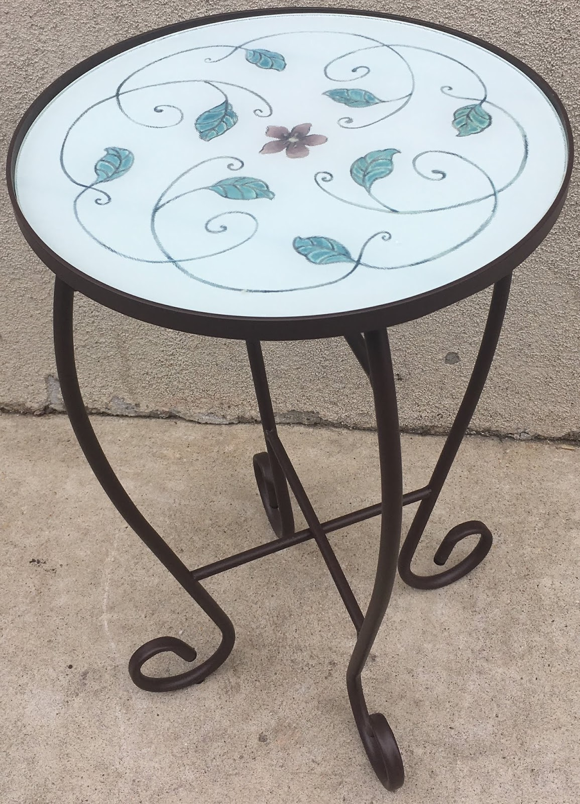 Small Round Glass End Table Uhuru Furniture Collectibles Small Round Metal Glass Top Accent