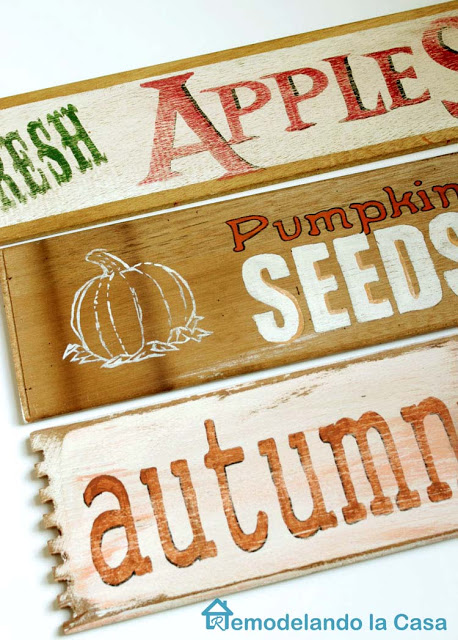 Pumpkin Seeds, Fresh apples and autumn signs