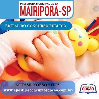 Concurso Prefeitura de Mairiporã SP - Apostila - Auxiliar de Desenvolvimento Infantil