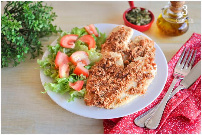 receita peixe crocante low carb