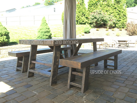 Patio Dining Table and Benches