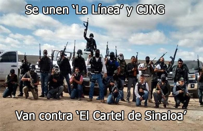 Nace nuevo cártel se fusionan entre La Linea y Cartel de Jalisco Nueva Generación, pelearán la plaza contra El Cartel de Sinaloa