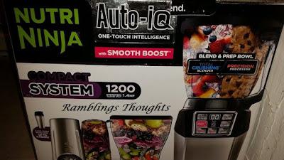 Ramblings Thoughts, Review, Video, Nutri Ninja, Auto-iQ, Blender, Kitchen Gadgets