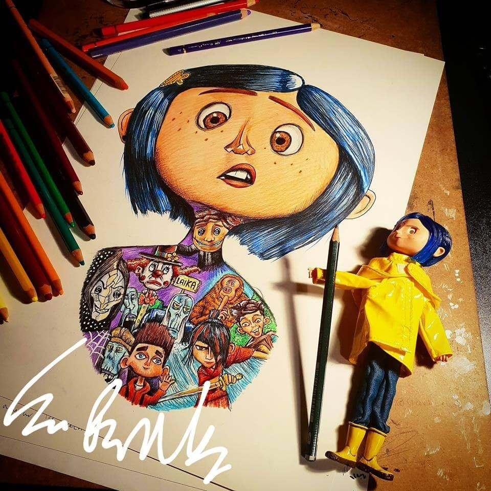 10-Laika-Studios-Sam-Brunell-littlesamsart-Movie-Character-Drawings-within-Characters-www-designstack-co