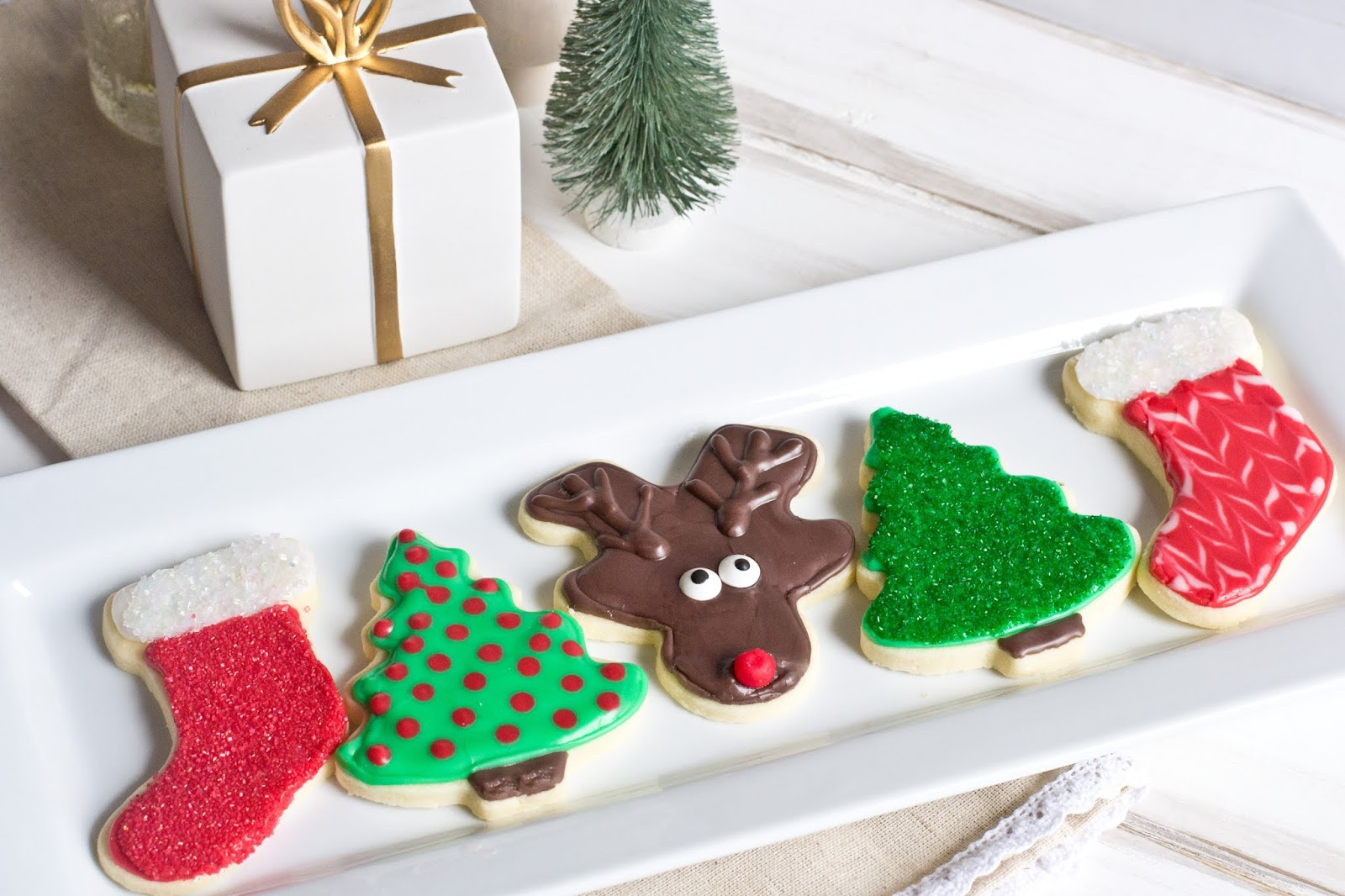 Gluten Free Vegan Decorated Sugar Cookies