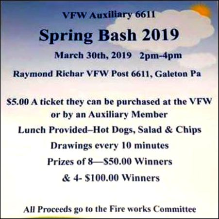 3-30 Spring Bash, Galeton VFW Post 6611
